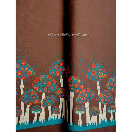 Jersey bordure champignons chocolat