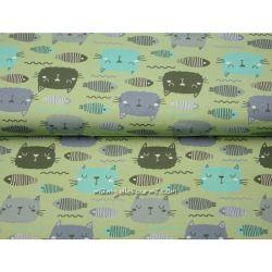 Jersey bio poissons/chats vert