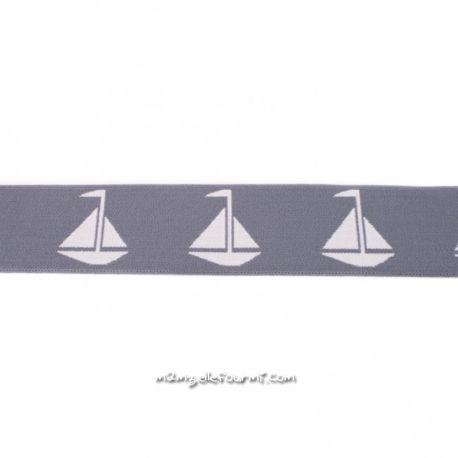 Élastique shorty voiliers gris