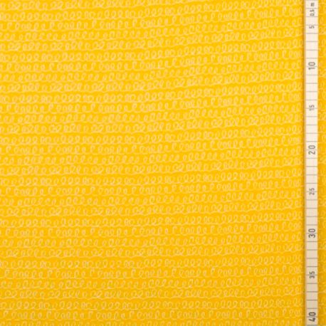 Maille jacquard bio luiaard jaune