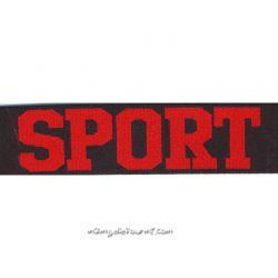 Élastique shorty sport rouge/noir