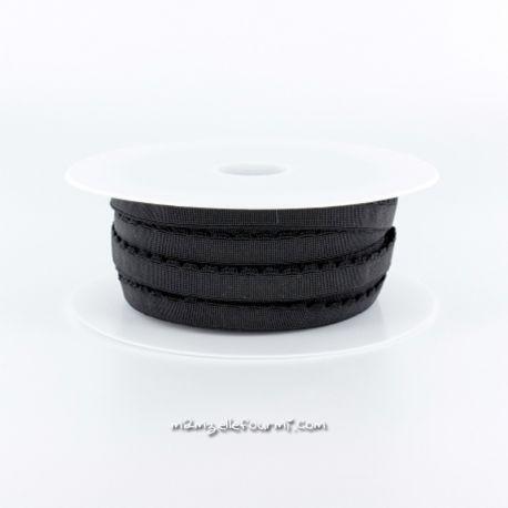 Élastique festons noir