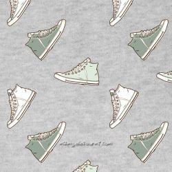 Jersey sneakers vert