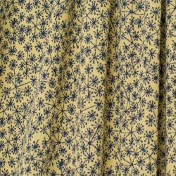 Maille jacquard bio pusteblumen marine sur fond jaune