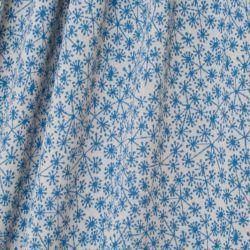 Maille jacquard bio pusteblumen bleu sur fond gris