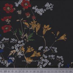 Crêpe floral noir