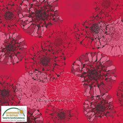 Jersey mandala flowers rouge