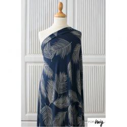 Jersey modal blue palm