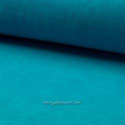 Jersey velours Oeko-Tex turquoise