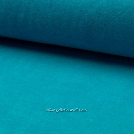 Jersey velours Oko-Tex turquoise