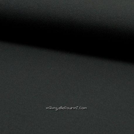 Jersey crêpe viscose noir