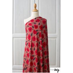 Jersey modal poppies corail