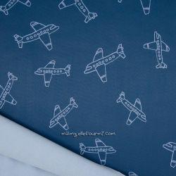 Softshell imprimé avions bleu
