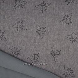 Softshell chiné imprimé bourdon gris