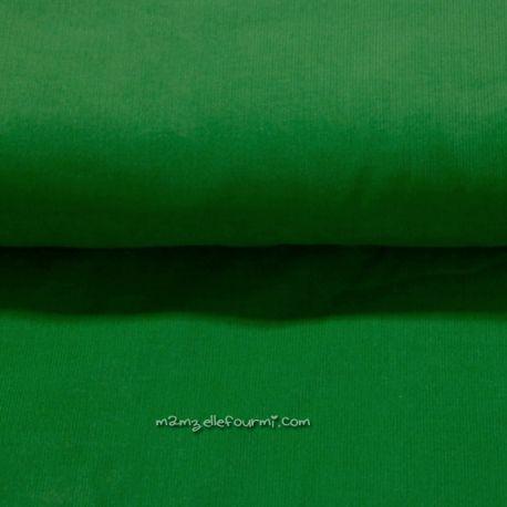 Velours babycord vert gazon