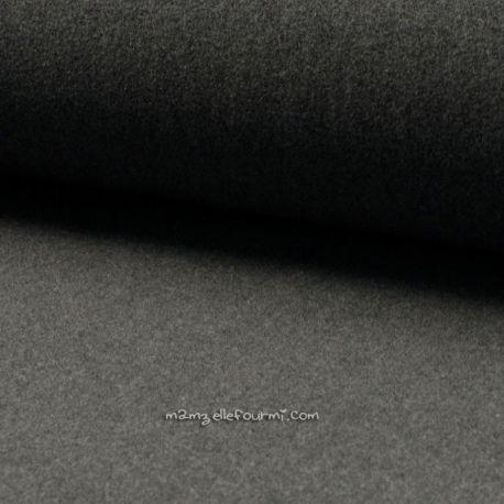 Velours de laine gris chiné