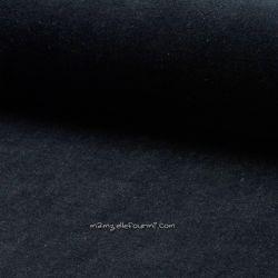 Jersey velours Oko-Tex noir