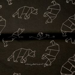 Jersey bio origami ours noir