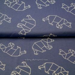 Jersey bio origami ours bleu