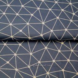 Jersey bio origami géométrique bleu
