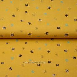 Jersey bio mini spirales moutarde