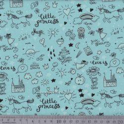 Jersey phosphorescent little princess bleu