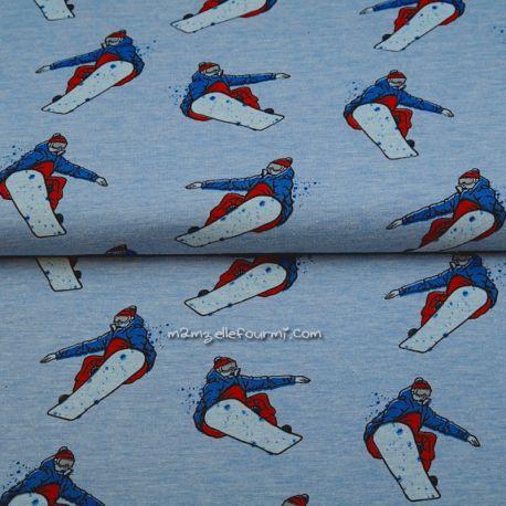 Molleton snowboard chiné ciel
