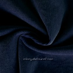 Velours milleraies stretch navy