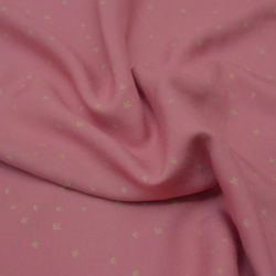 Viscose golden flowers blush