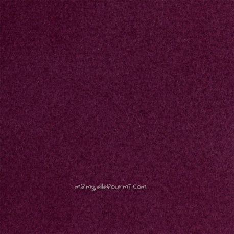 Lainage manteau purple