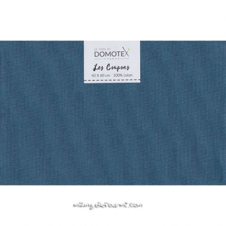 Coupon coton uni indigo