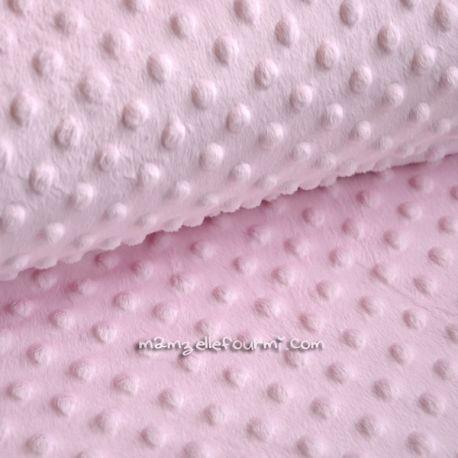 Minkee dots rose dragée