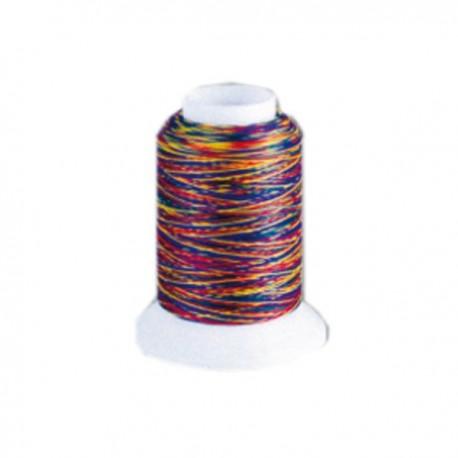 Fil mousse Wooly Nylon multicolore vif
