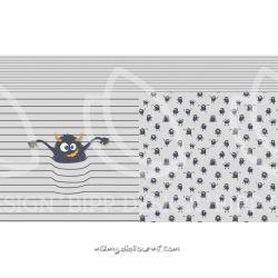 Jersey panneau mick gris clair