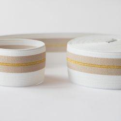 Élastique ceinture lignes d'or
