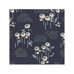 Viscose flowers anthracite