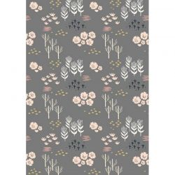 Viscose meadow rose/gris