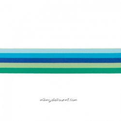 Élastique shorty rayé multi bleu/aqua