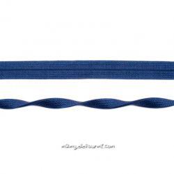 Biais jersey jacquard bleu foncé