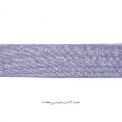 Élastique 50 mm lurex argent mauve