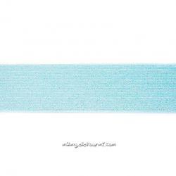 Élastique 50 mm lurex argent menthe
