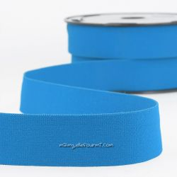 Élastique shorty uni bleu roi - 32 mm