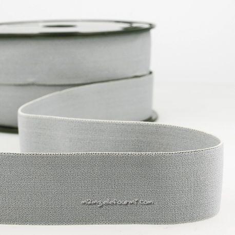 Élastique shorty uni gris moyen - 32 mm