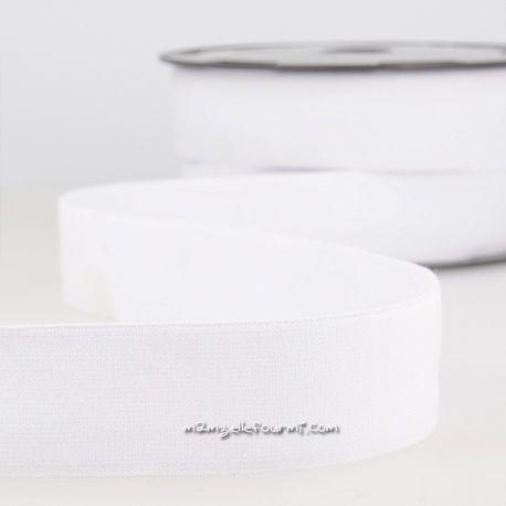 Élastique shorty uni blanc - 32 mm