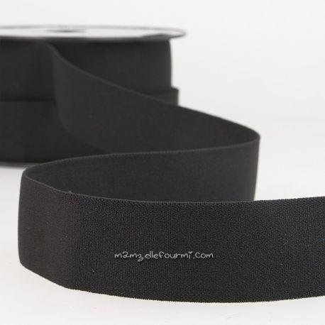 Élastique shorty uni noir - 32 mm