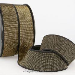 Élastique 40 mm métal noir/or