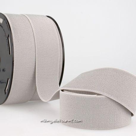 Élastique 40 mm métal gris/argent