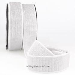 Élastique 40 mm métal blanc/argent