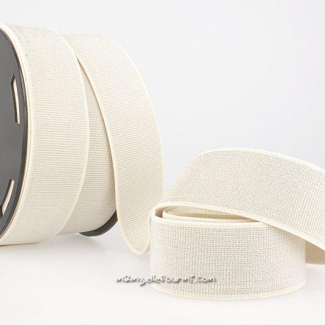 Élastique 40 mm métal ivoire/argent