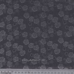 Doublure roses gris
